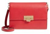 Lodis Stephanie Under Lock & Key - Small Eden Leather Crossbody Bag - Red