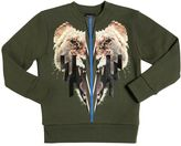 Marcelo Burlon County of Milan Lion Printed Cotton Sweatshirt