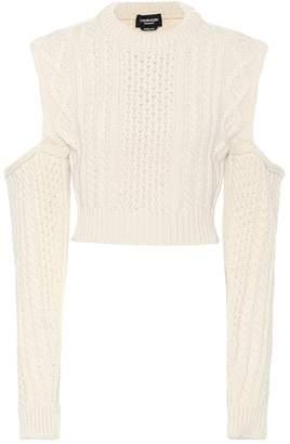 Calvin Klein Wool-blend cropped sweater