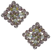 AJ Fashion Jewellery Marenda Gold tone AB Crystal Clip On Earrings