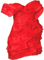 Ermanno Scervino frilled fitted dress