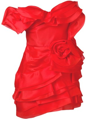 Ermanno Scervino Frilled Fitted Dress