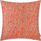 Clarissa Hulse Garland Cushion - 45x45cm - Pebble/Tiger Lily/Fluoro-Orange