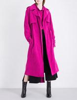 Wanda Nylon Jane faux-suede trench coat