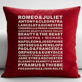 """RedEnvelope Personalized Famous Couples 22"""" Square Throw Pillow"""