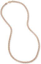 Betsey Johnson Rose Gold-Tone Long Pavé Glitter Rope Statement Necklace