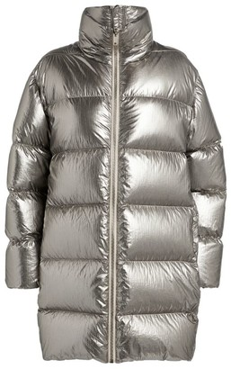 Rick Owens + Moncler Metallic Puffer Jacket