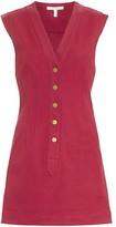 Derek Lam 10 Crosby Cotton Twill V-Neck Shift Dress