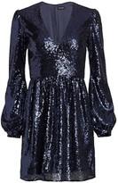 Saloni Camille Sequin Mini Dress