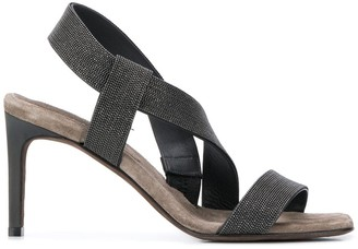 Brunello Cucinelli Beaded Strappy Sandals