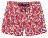 Vilebrequin Moorise Mid-length Printed Swim Shorts - Red