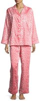 BedHead Wild Thing Classic Pajama Set, Coral/Ivory