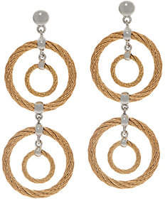Alor Cable Stainless Steel Circle DropEarrings