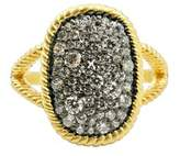 Freida Rothman Women's Gilded Cable Large Pave Cocktail Ring