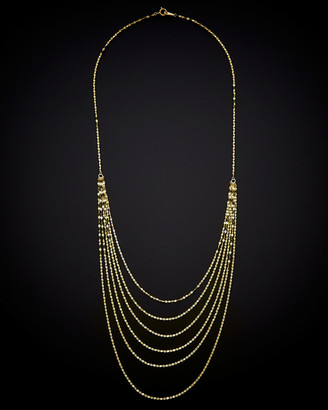 Italian Gold 14K 6-Strand Layer Necklace