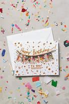 Anthropologie Confetti Birthday Card