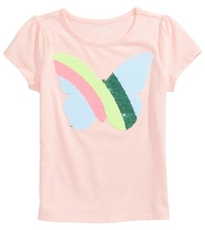 Epic Threads Little Girls Flip-Sequin Butterfly T-Shirt, Created for Macy's