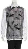 Neil Barrett Textured Button-Up Shirt w/ Tags