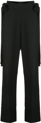 Oscar de la Renta Side Tie Tailored Trousers