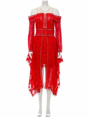 Thurley Crew Neck Midi Length Dress Red