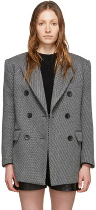 Isabel Marant Grey Wool Hermina Coat