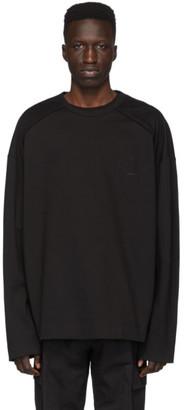 Juun.J Black Logo Long Sleeve T-Shirt