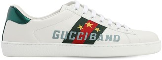 Gucci New Ace Band Leather Sneakers