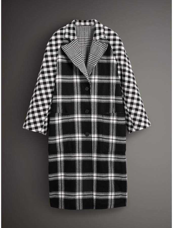 Burberry Reversible Multi-check Wool Cashmere Coat
