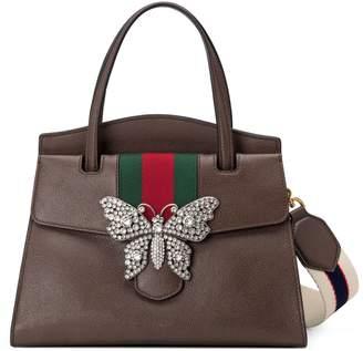 Gucci Medium Linea Leather Satchel