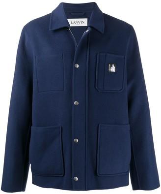 Lanvin Short Zip-Up Duffle Coat