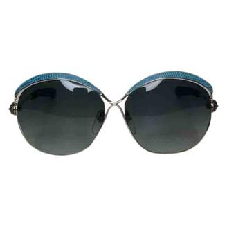 Chrome Hearts Blue Metal Sunglasses