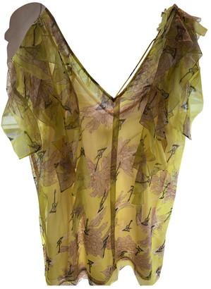 Zadig & Voltaire Spring Summer 2019 Yellow Silk Dresses