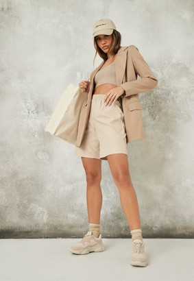 Missguided Tall Stone Co Ord Oversized Long Blazer