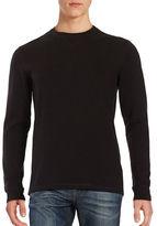 Black Brown 1826 Long-Sleeve Crewneck Top