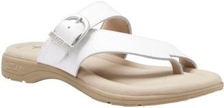 Eastland Leather Strap & Buckle Thong Sandals -Tahiti II