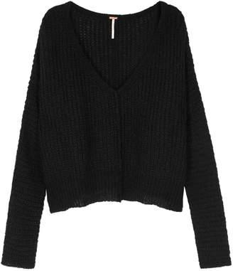 Free People Moonbeam Black Rib-knit Alpaca-blend Jumper