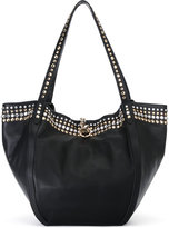 Sonia Rykiel studded shoulder strap tote - women - Cotton/Sheep Skin/Shearling/Acrylic - One Size