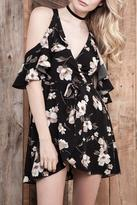 J.o.a. Floral Wrap Dress