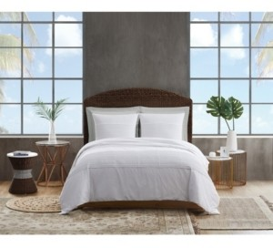 Sean John Pleated Denim King Duvet Set Bedding