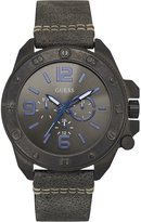 GUESS GUESS? W0659G3,Men's Multifunction Dial,Stainless Steel case,Leather Strap,WR