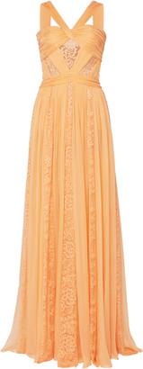 ZUHAIR MURAD Lace-Detailed Organza Dress