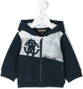 Roberto Cavalli logo print hoodie - kids - Cotton/Elastodiene - 3 mth