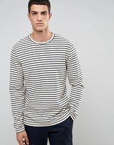 Celio Long Sleeve Breton Striped Top