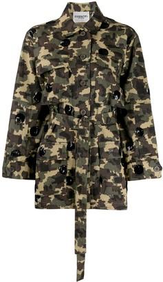 Essentiel Antwerp Camouflage Print Jacket