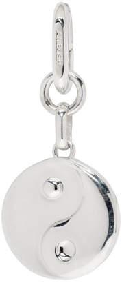 Ambush Silver Single Yin Yang Earring