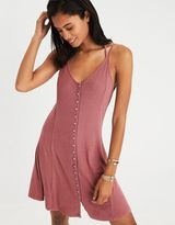 American Eagle Outfitters AE Button-Up Slip Dress