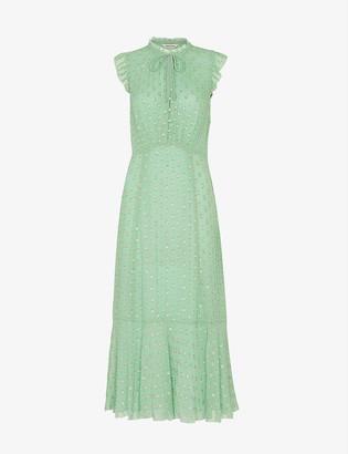 Whistles Annabel embellished crepe dress