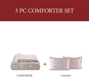 Sunham Cheetah 3-Pc. King Comforter Set Bedding