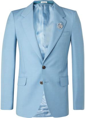 Alexander McQueen Slim-Fit Wool And Mohair-Blend Blazer