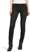 Heather Black Low-Rise Skinny Jeans